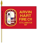 .Custom FIRE DEPT GRAVE FLAG- 12x18 inch